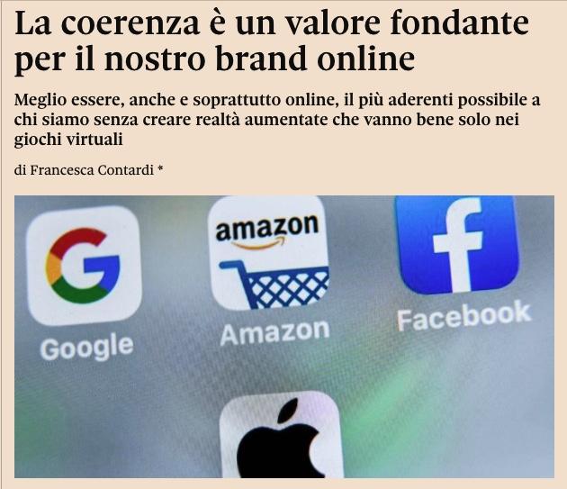 ⚡ La #coerenza è un valore fondante per il nostro brand positioning online